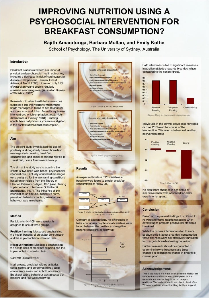 IMPROVING NUTRITION USING A                PSYCHOSOCIAL INTERVENTION FOR                   BREAKFAST CONSUMPTION?         ...