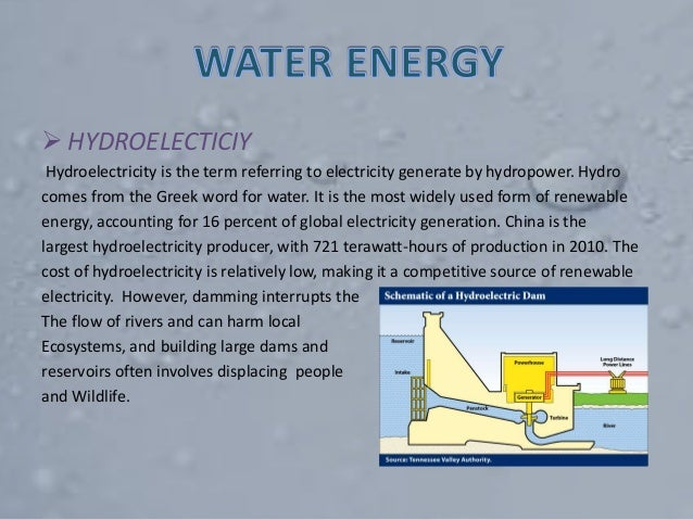  HYDROELECTICIY Hydroelectricity is the term referring to electricity generate by hydropower. Hydro comes from the Greek ...