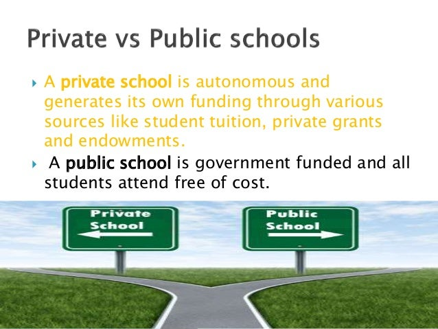 compare and contrast public and private schools pdf