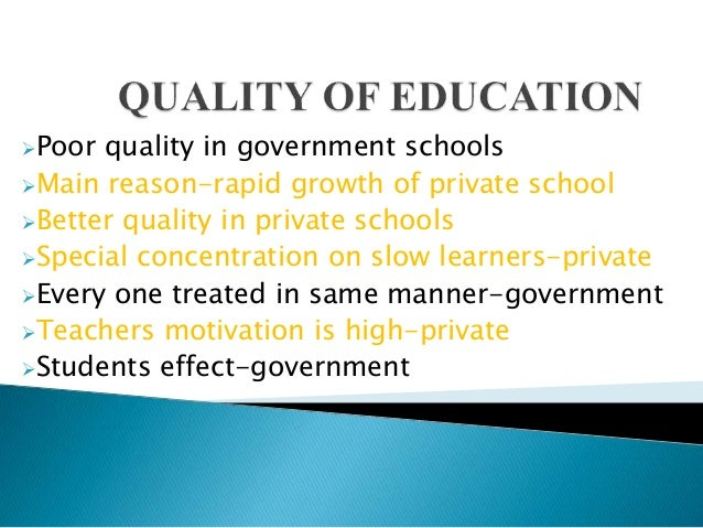 Essay on quality of education in pakistan