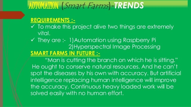 Smart Farming using Automation