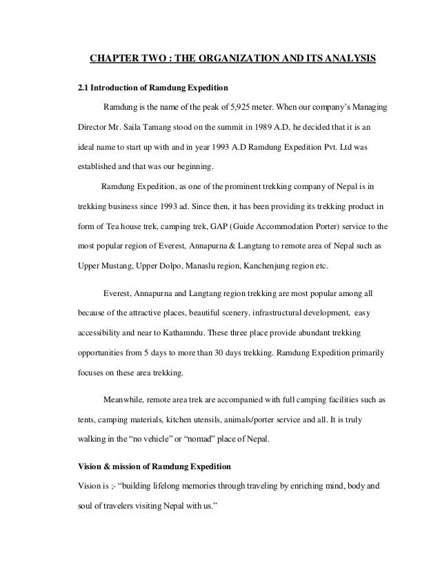 internship report in travel agency ramdung expedition pvt  13