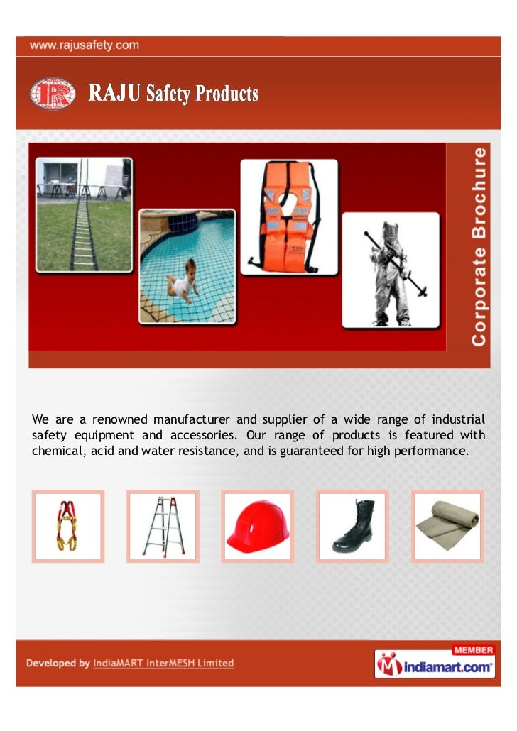 We are a renowned manufacturer and supplier of a wide range of industrialsafety equipment and accessories. Our range of pr...