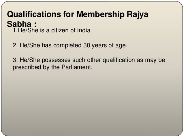 qualification of lok sabha member