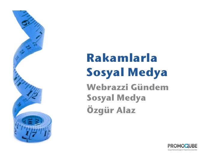 Rakamlarla Sosyal Medya! Webrazzi Gündem Sosyal Medya! Özgür Alaz!