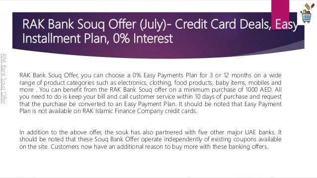 Rak bank souq offer