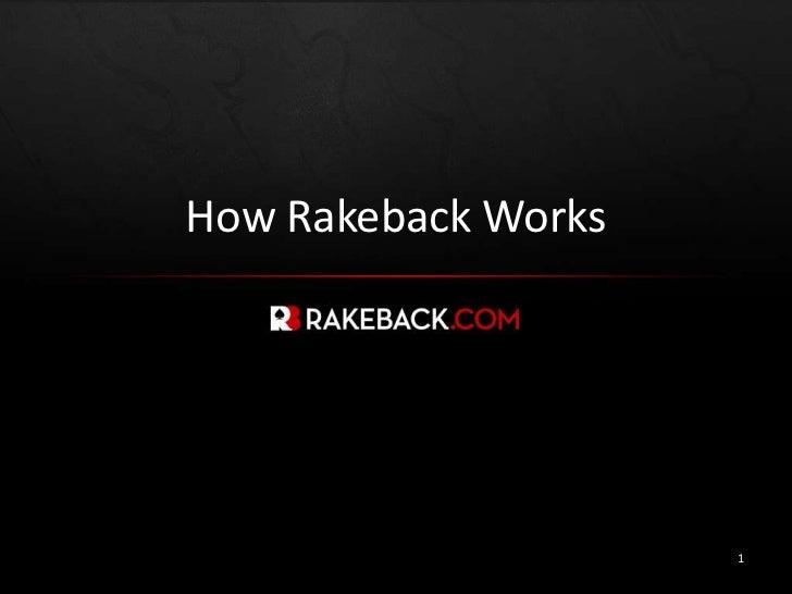 How RakebackWorks<br />1<br />