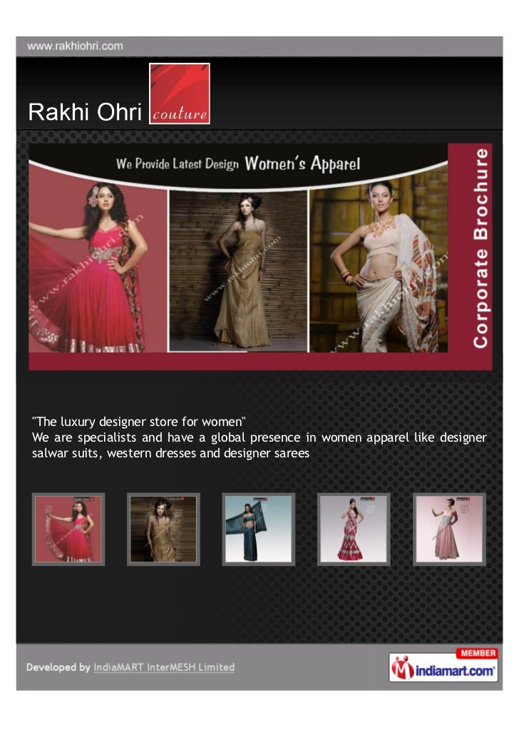 """The luxury designer store for women""We are specialists and have a global presence in women apparel like designersalwar su..."