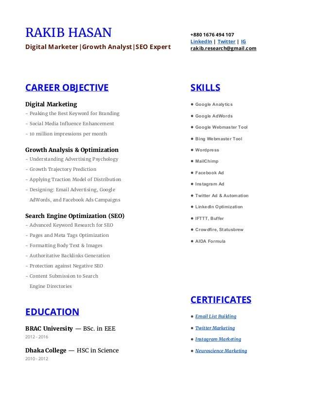 RAKIB HASAN Digital Marketer|Growth Analyst|SEO Expert +880 1676 494 107 LinkedIn | Twitter | IG rakib.research@gmail....