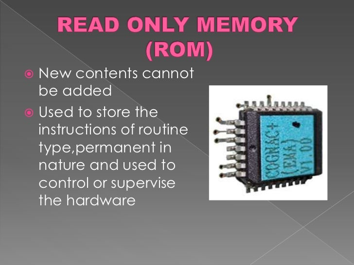 read only memory applications