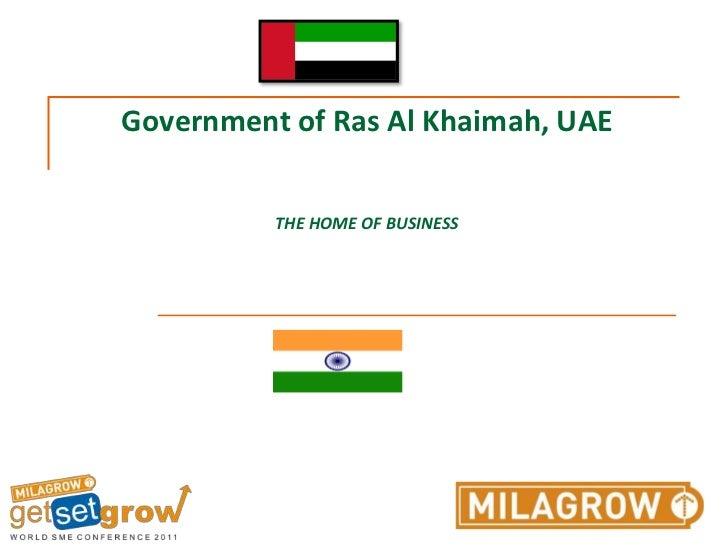 Government of Ras Al Khaimah, UAETHE HOME OF BUSINESS<br />