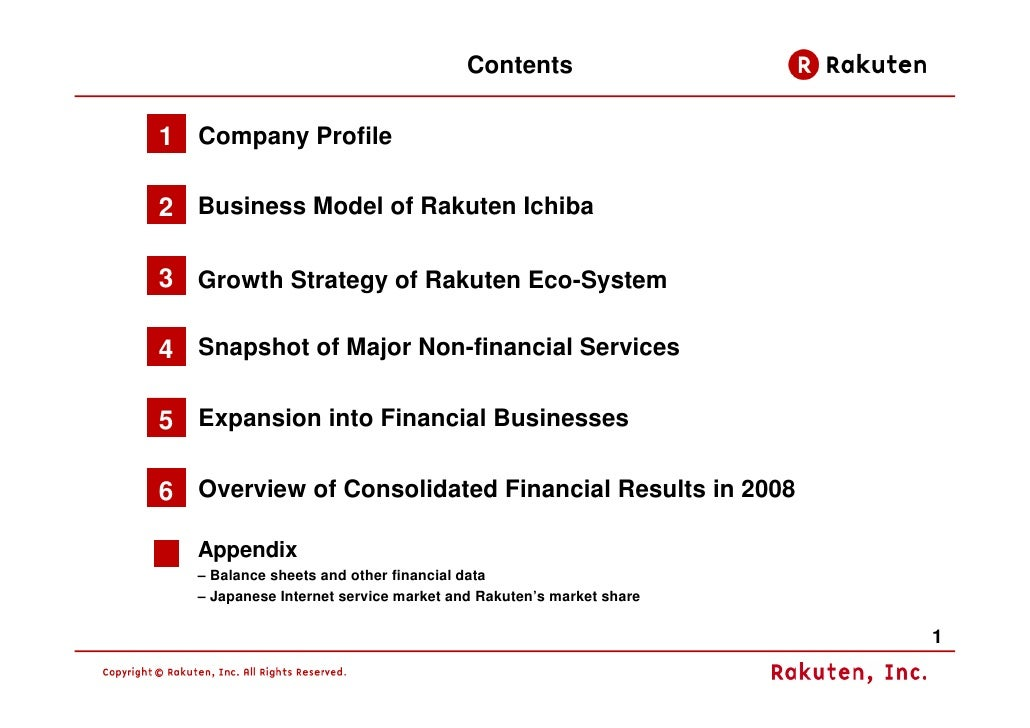 Rakuten Business Model 2009 Slide 2