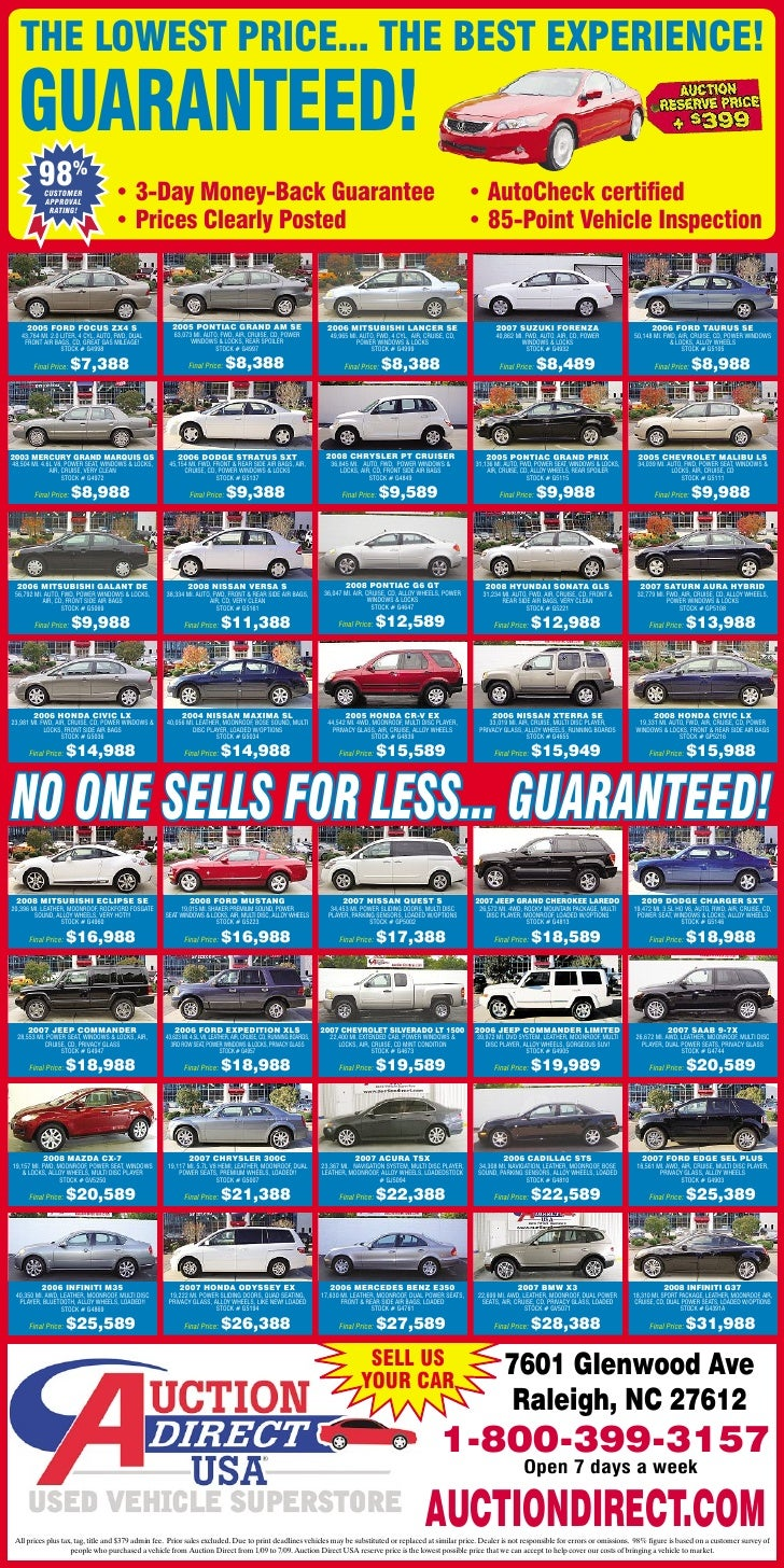 raleigh used cars auction direct usa black friday shopping. Black Bedroom Furniture Sets. Home Design Ideas