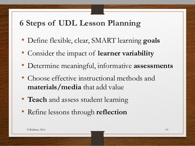 Lesson Planning Using Universal Design for Learning