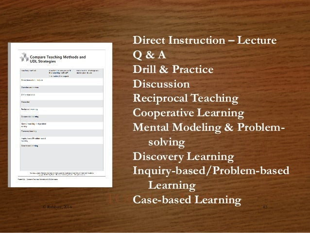 teaching methods direct instruction cooperative learning