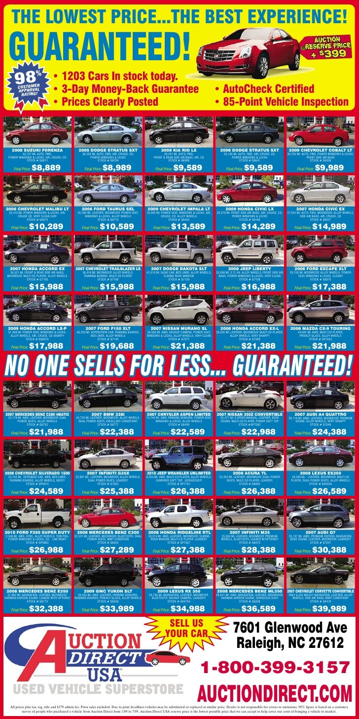 Auction Direct Usa Raleigh Used Cars