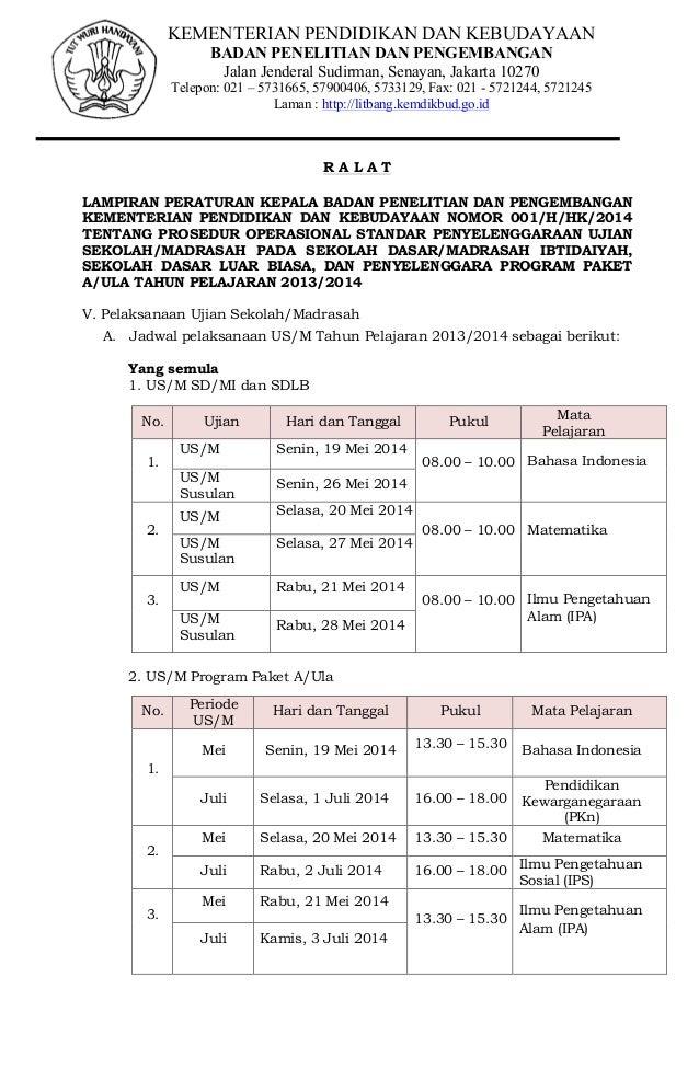 KEMENTERIAN PENDIDIKAN DAN KEBUDAYAAN BADAN PENELITIAN DAN PENGEMBANGAN Jalan Jenderal Sudirman, Senayan, Jakarta 10270 Te...