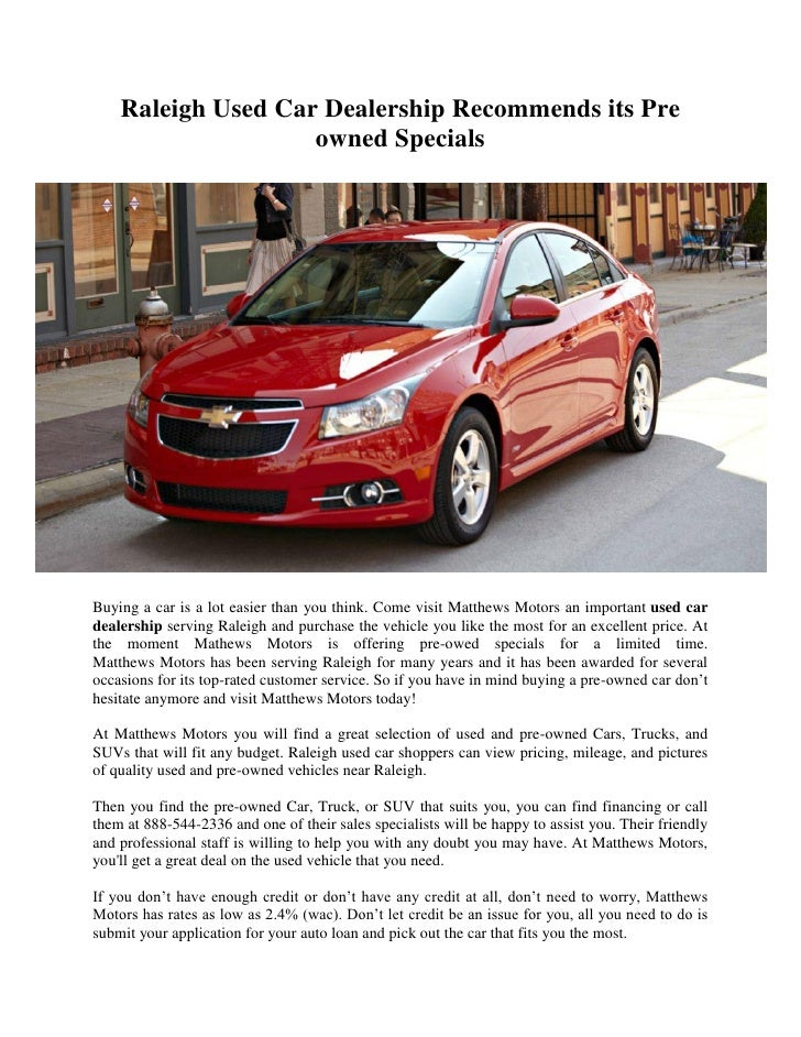 Raleigh Used Cars >> Raleigh Used Car Dealership Recommends Its Pre Owned