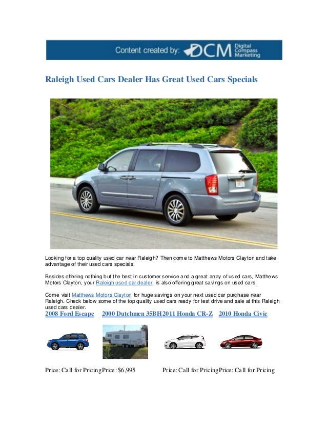 Raleigh Used Cars >> Raleigh Used Cars Dealer Has Great Used Cars Specials