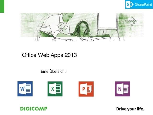 Office Web Apps 2013      Eine Übersicht