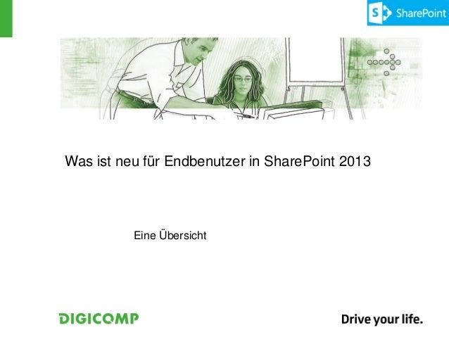 Was ist neu für Endbenutzer in SharePoint 2013          Eine Übersicht