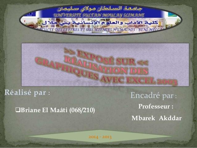 Réalisé par :  Encadré par :  Briane El Maâti (068/210)  Professeur :  Mbarek Akddar 2014 - 2013