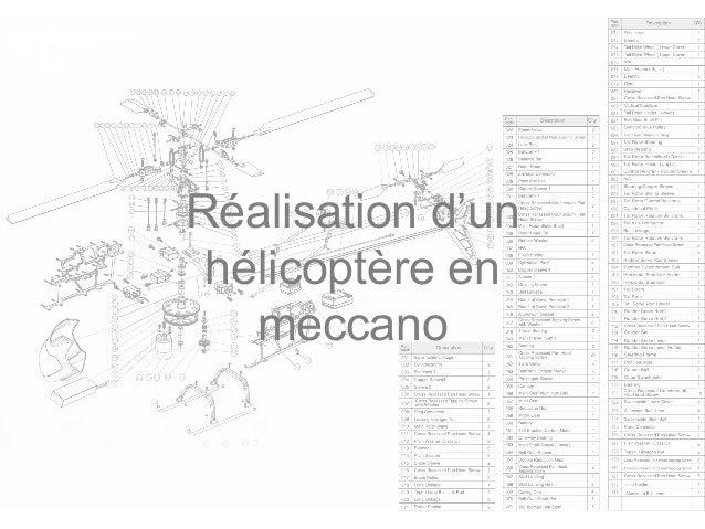 Réalisation d'un hélicoptère en meccano