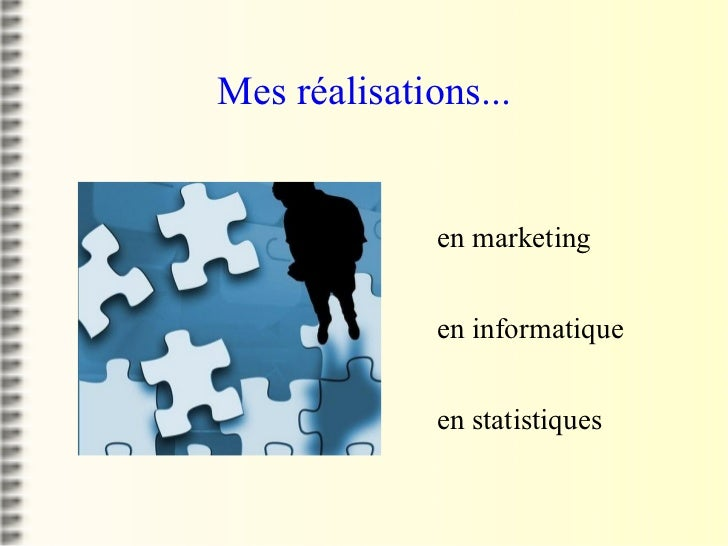 Mes réalisations... <ul><li>en marketing