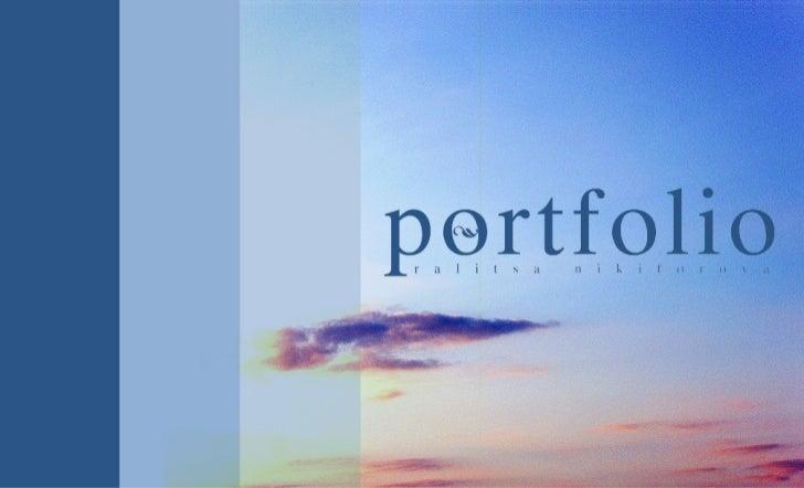 Ralitsa Nikiforova Portfolio
