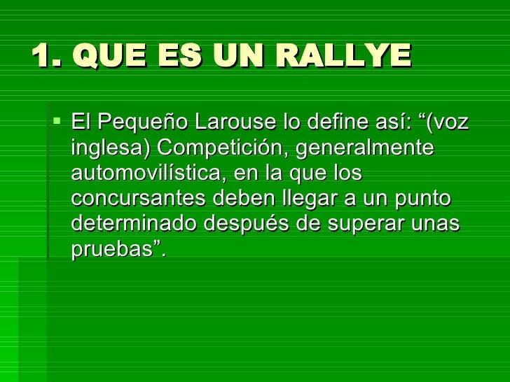 Que es rally