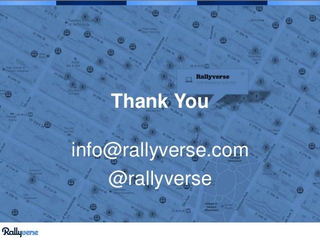 Thank You info@rallyverse.com @rallyverse