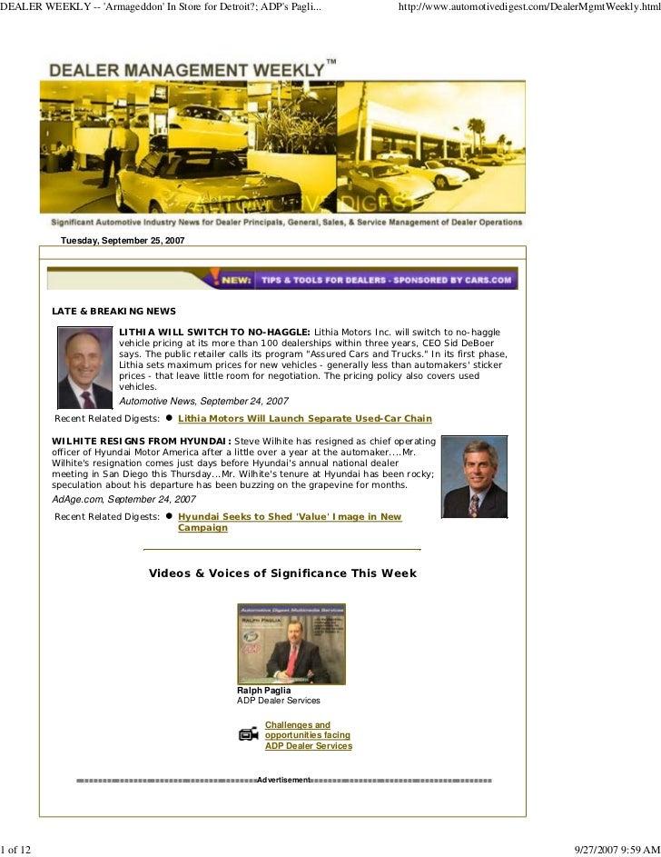 DEALER WEEKLY -- 'Armageddon' In Store for Detroit?; ADP's Pagli...                     http://www.automotivedigest.com/De...