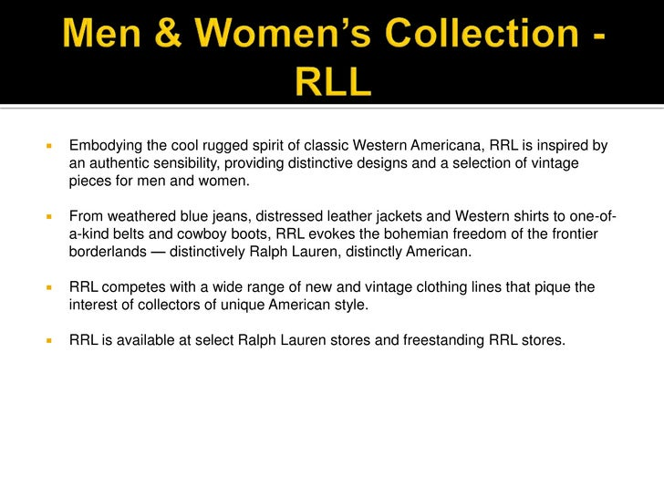 Ralph Lauren Competitive Review