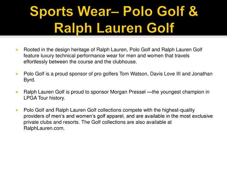 Ralph Lauren Competitive Review