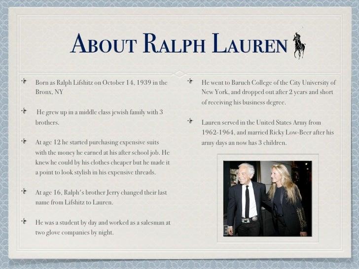 8850a9637b9 Ralph Lauren Presentation
