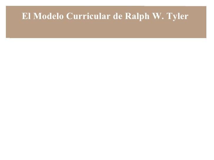 El model curricular de Ralph Tyler
