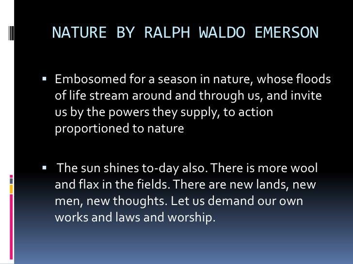 Emerson essay nature summary
