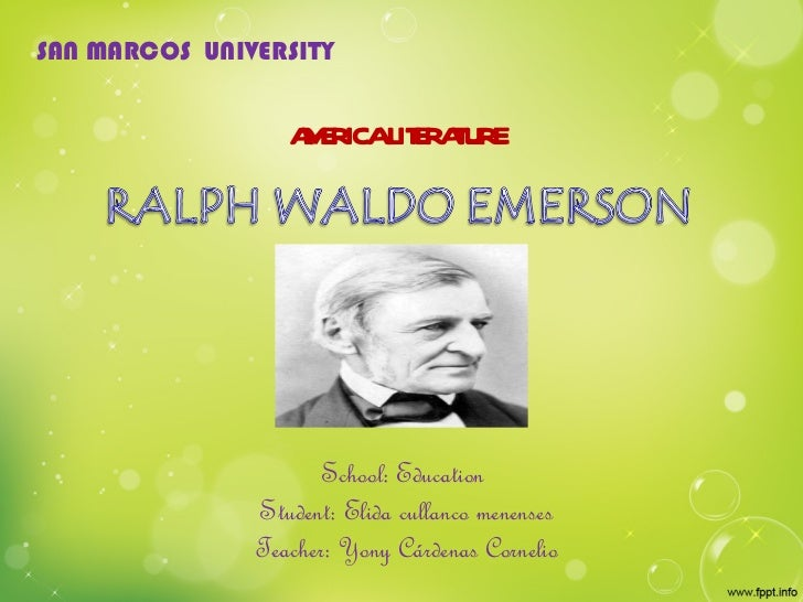 ralph waldo emerson essay+the poet Xiii the poet essays by ralph waldo emerson history there is no great and no small to the soul that maketh all: and where it cometh, all things are.