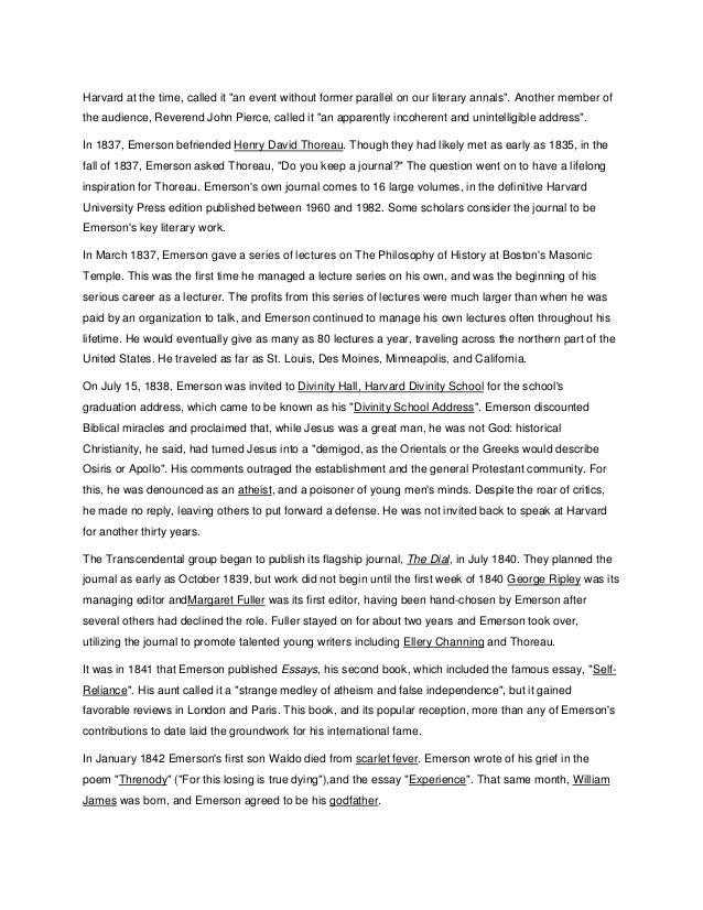 ralph waldo emerson essays first series pdf