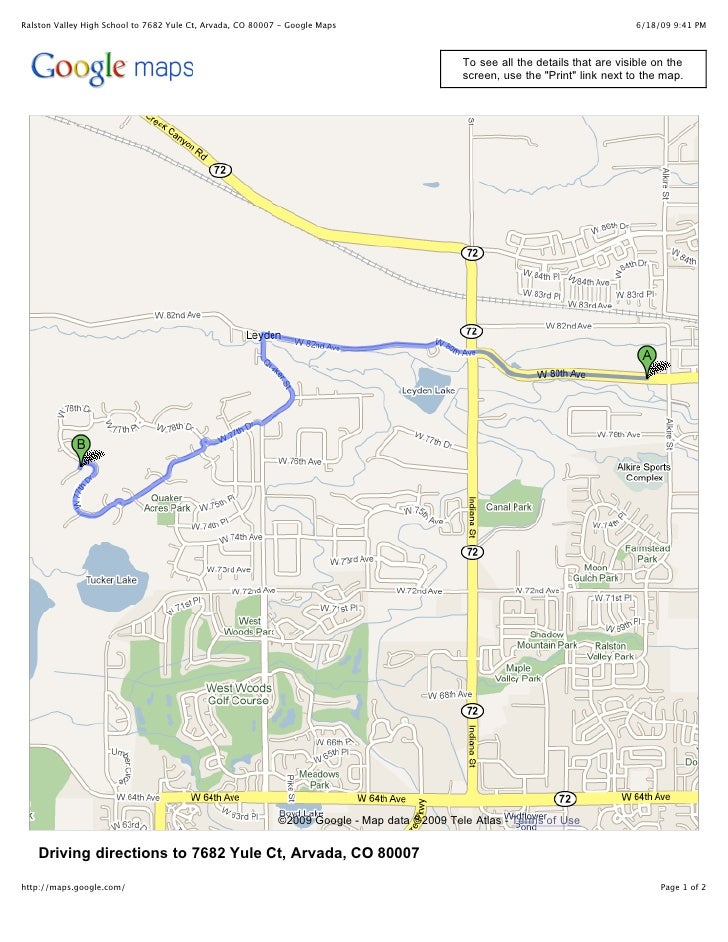 Ralston Valley High School to 7682 Yule Ct, Arvada, CO 80007 - Google Maps                                                ...