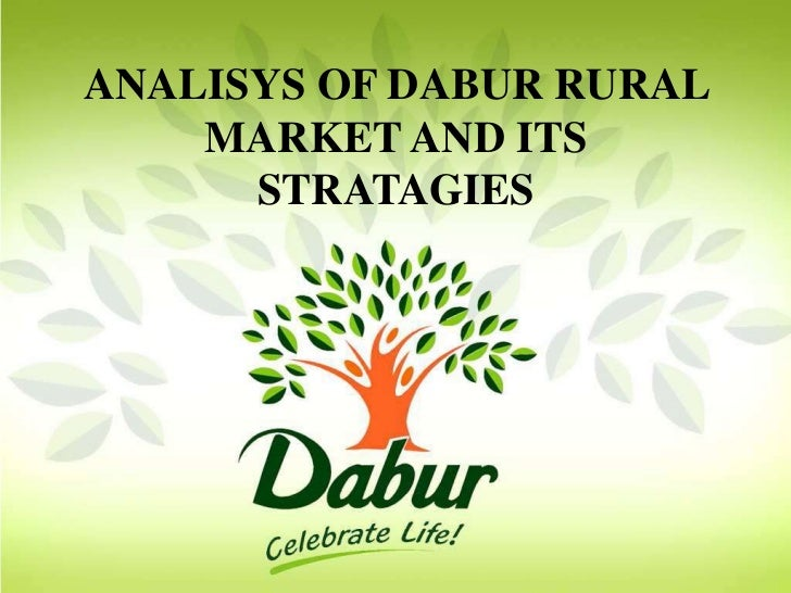 ANALISYS OF DABUR RURAL    MARKET AND ITS      STRATAGIES