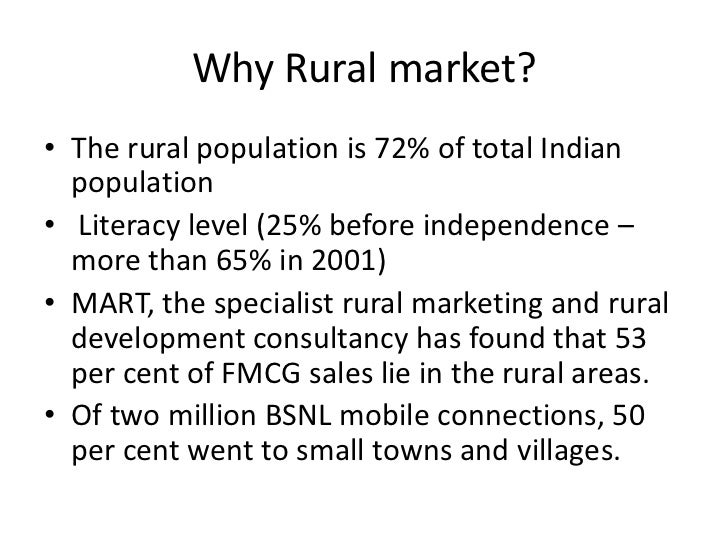 marketing plan to launch a fmcg product in rural area Fast moving consumer goods:  roughly 720 million people lived in rural areas2 delivering products and services into  the rural marketing book, .