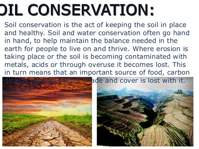what are ways to conserve soil
