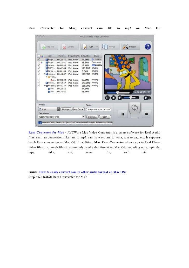 Ram     Converter      for   Mac,     convert     ram     file   to   mp3      on    Mac     OS     Ram Converter for Mac ...