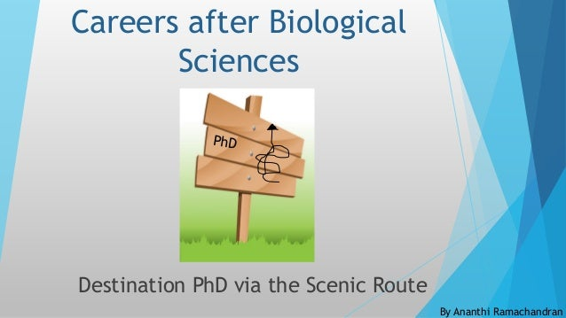 Careers after Biological Sciences Destination PhD via the Scenic Route By Ananthi Ramachandran