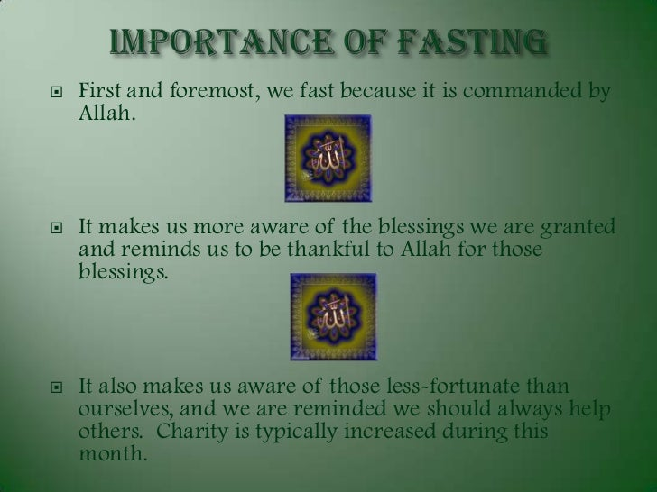essay about fasting in islam (surah 2:183-4) sawm, or fasting, one of the five pillars of islam sawm is the deliberate control of the body by an act of will during the 29 or 30 days of the muslim month of ramadan.