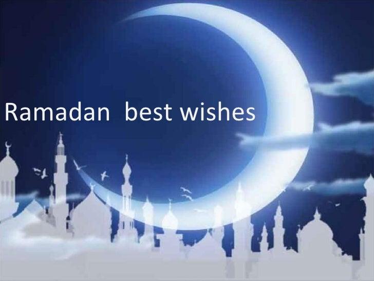 Ramadan  best wishes