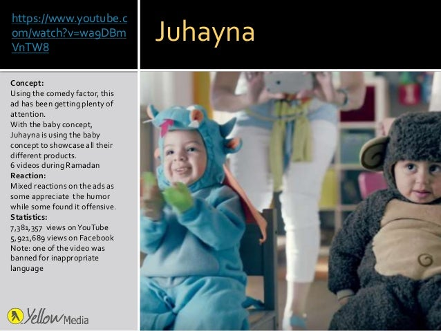 https://www.youtube.c om/watch?v=wa9DBm VnTW8 Concept: Using the comedy factor, this ad has been getting plenty of attenti...