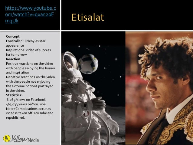 https://www.youtube.c om/watch?v=qxan2oF mqUk Concept: Footballer El Neny as star appearance Inspirational video of succes...