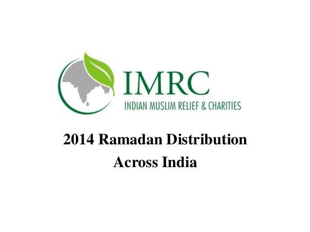 2014 Ramadan Distribution Across India